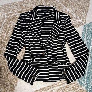 Deb Black & White Striped Blazer